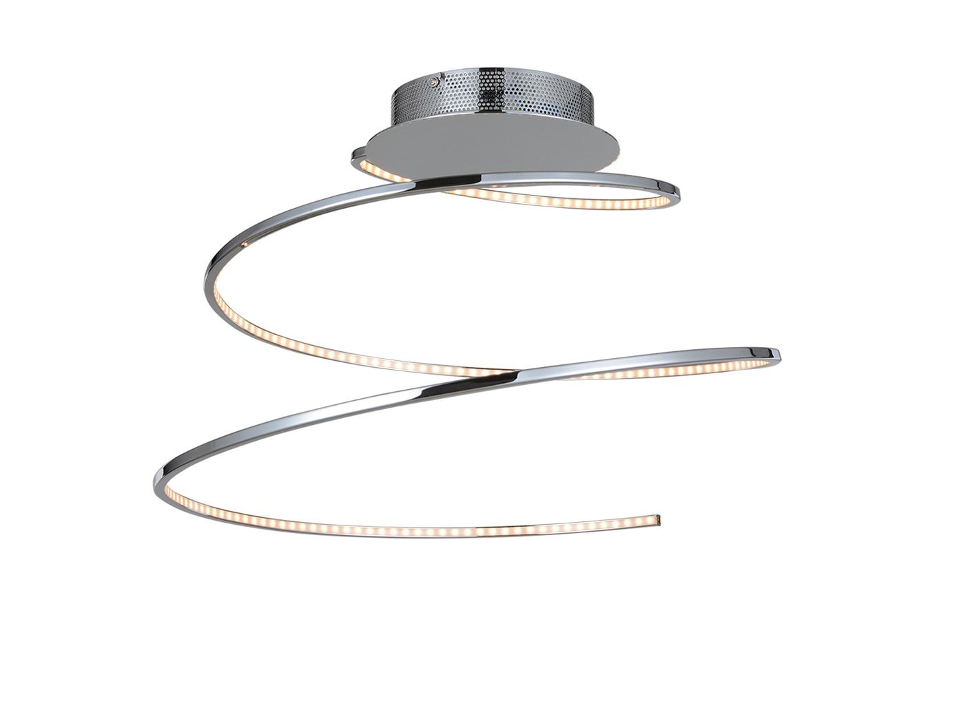 LED DESIGN Deckenleuchte Spirale in Chrom Silber - Deckenlampe fürs ...