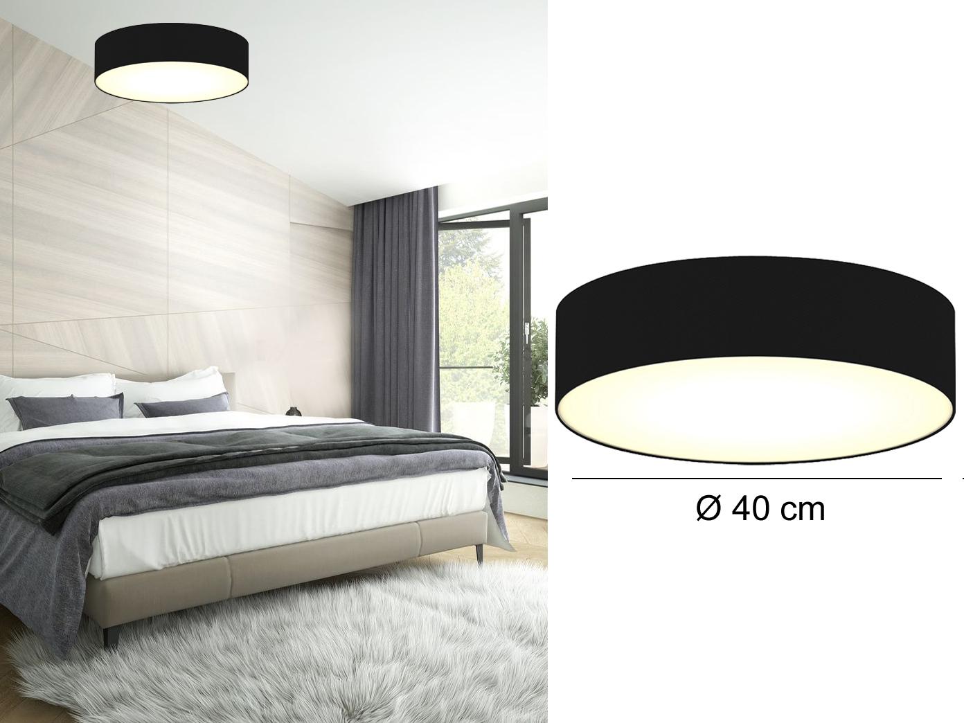 design deckenleuchte ceiling dream rund Ø40 cm schirm schwarz schlafzimmer