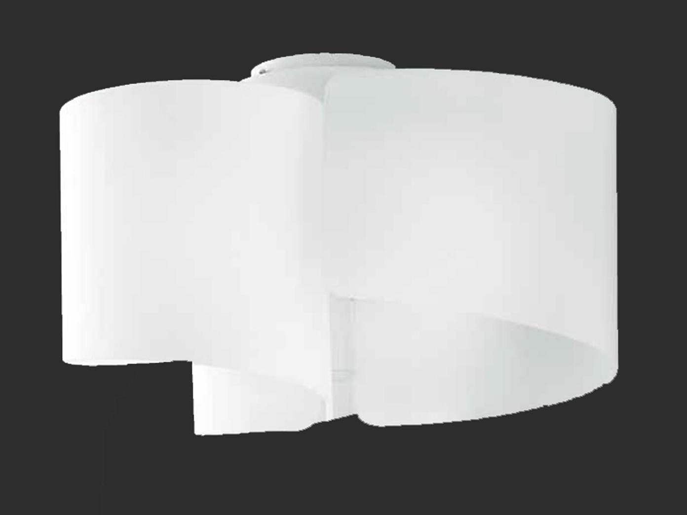 design deckenleuchte imagine lampenschirm glas wei 47cm. Black Bedroom Furniture Sets. Home Design Ideas