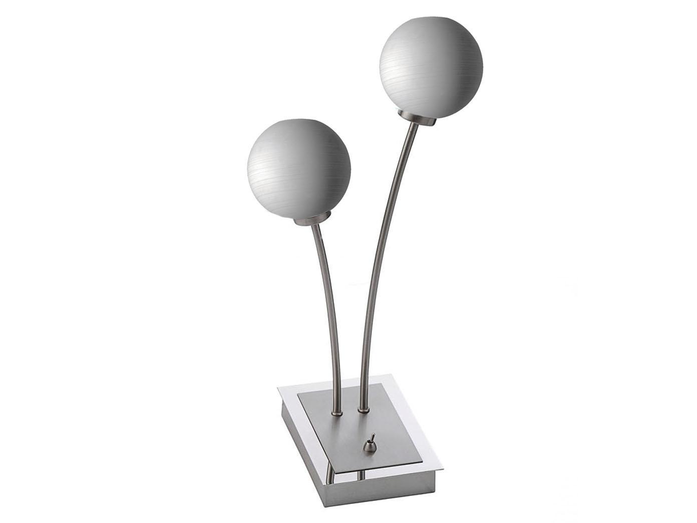 2 flammige led tischleuchte design modern mit glaskugeln. Black Bedroom Furniture Sets. Home Design Ideas