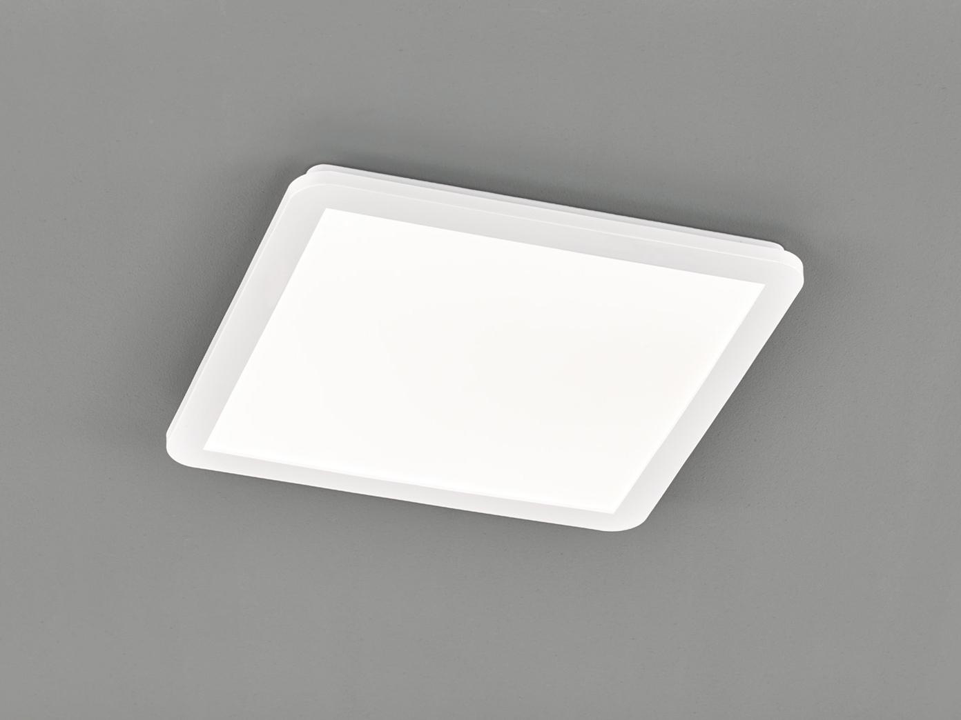 LED Deckenleuchte CAMILLUS flache Badezimmerlampe Eckig 20x20cm in Weiß IP20