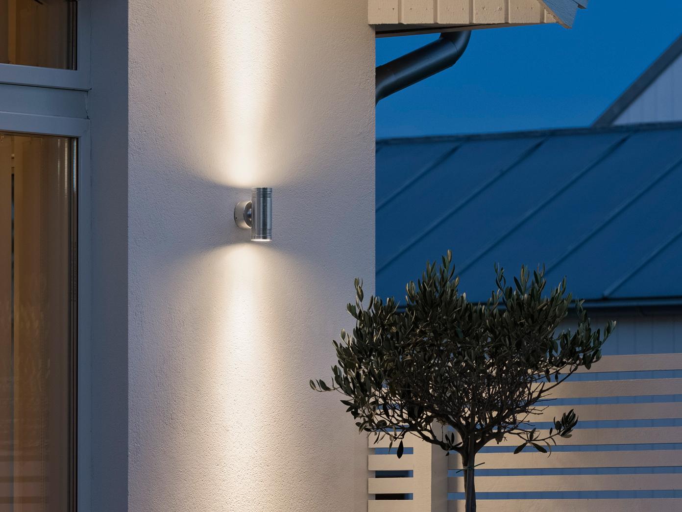 Außenwandleuchte Außenwandleuchte Außenwandleuchte MONZA, Up Down-light, massives Alu, H  15 cm, IP54 25ed5a