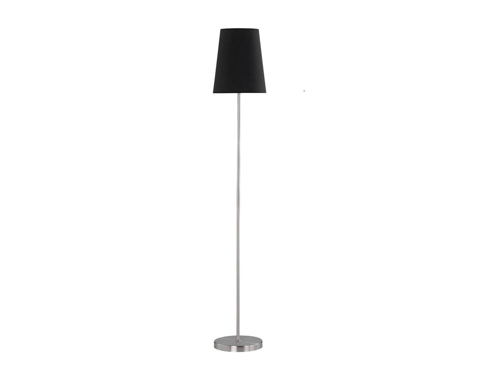 Wofi Stehleuchte Fynn Stoffschirm Schwarz Lampe Wohnzimmer