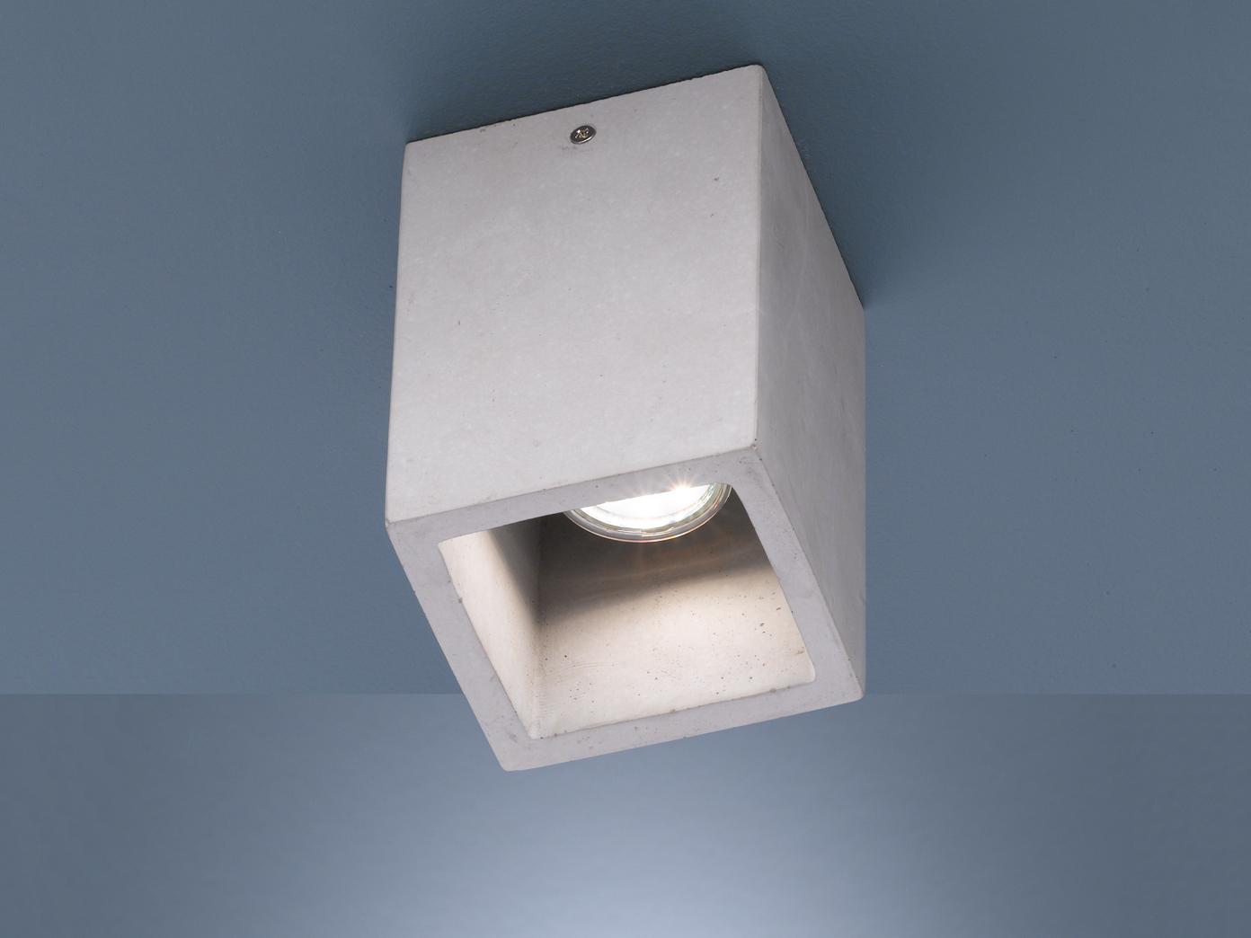 Dimmbare LED Deckenbeleuchtung für Wohnzimmer aus Beton toller ...