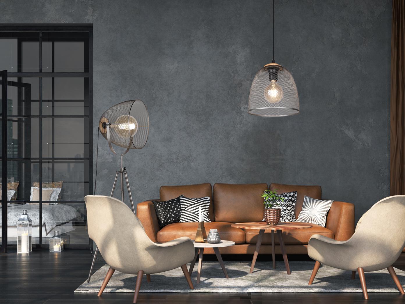 Hohenverstellbare Led Stehlampe Dreibein Korblampe Hinter Sofa Mit Drahtgeflecht Kaufen Bei Setpoint Deutschland Gmbh