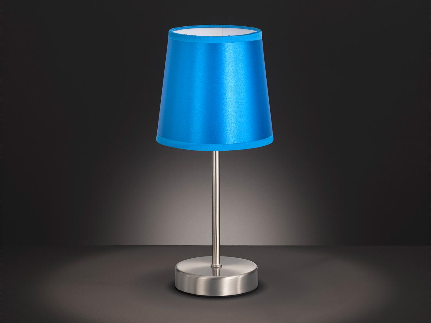 Schlafzimmerlampen Klassische Tischleuchte mit Textil Schirm Rosa Ø 14cm E14