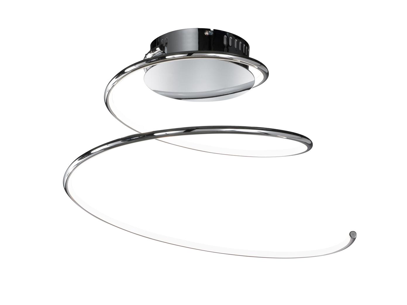 led deckenleuchte linee 48cm chrom deckenlampen. Black Bedroom Furniture Sets. Home Design Ideas