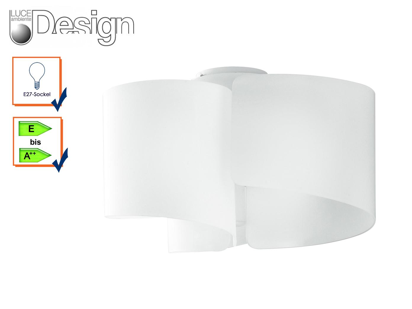 design deckenleuchte imagine 3flammig lampenschirm glas. Black Bedroom Furniture Sets. Home Design Ideas