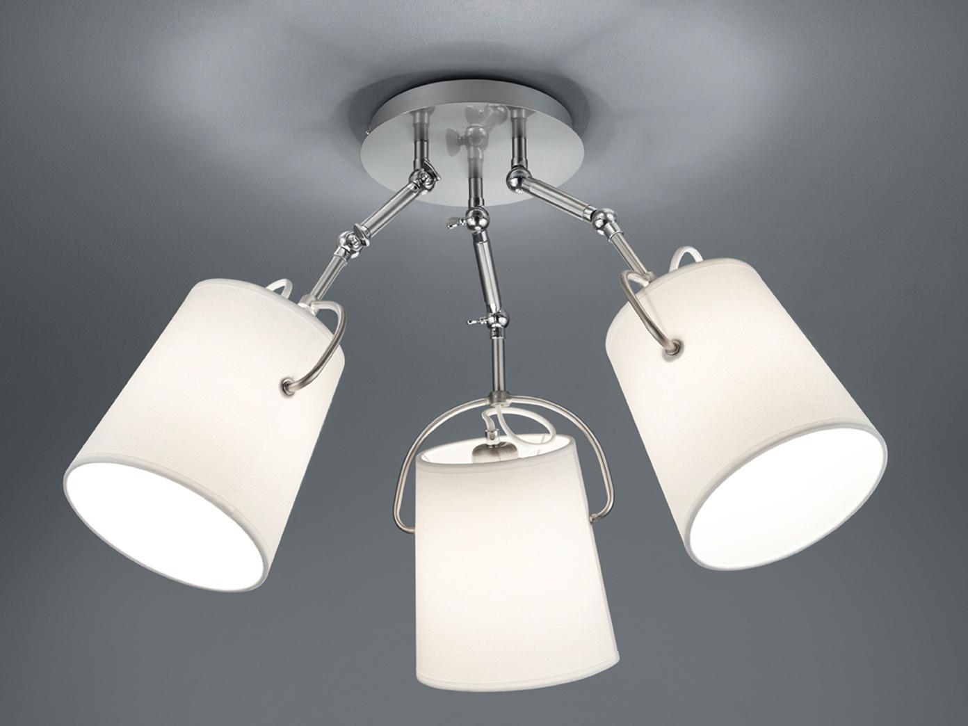led deckenleuchte stoff lampenschirme schwenkbar weiss o74cm wohnzimmerlampen 1