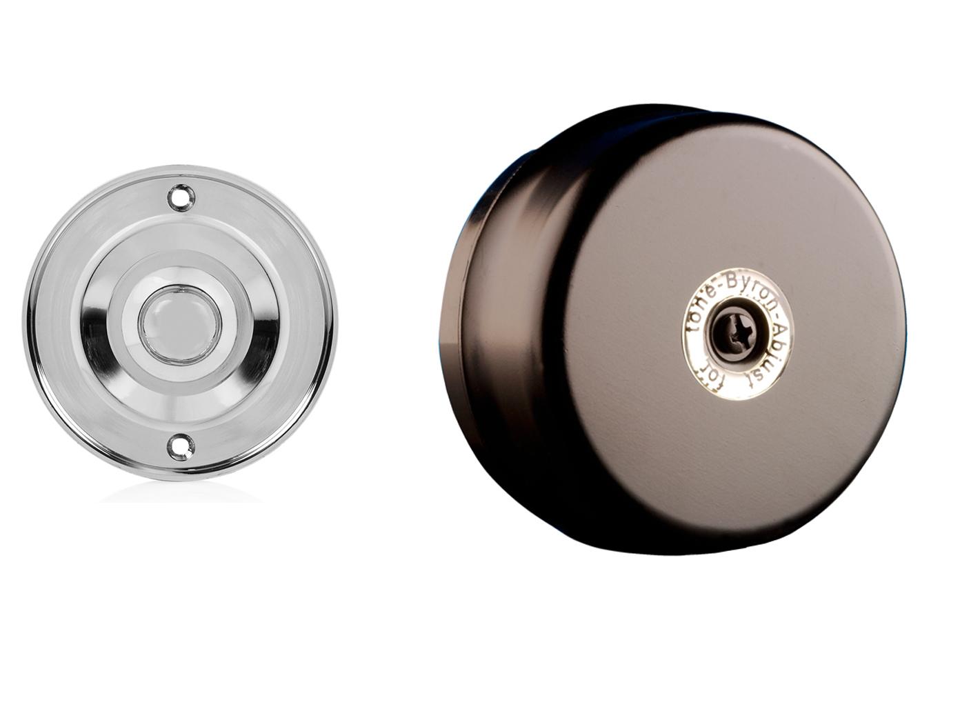 Berühmt Elektrische Türklingel schwarz rund mit Klingelknopf Chrom, 2 FK45