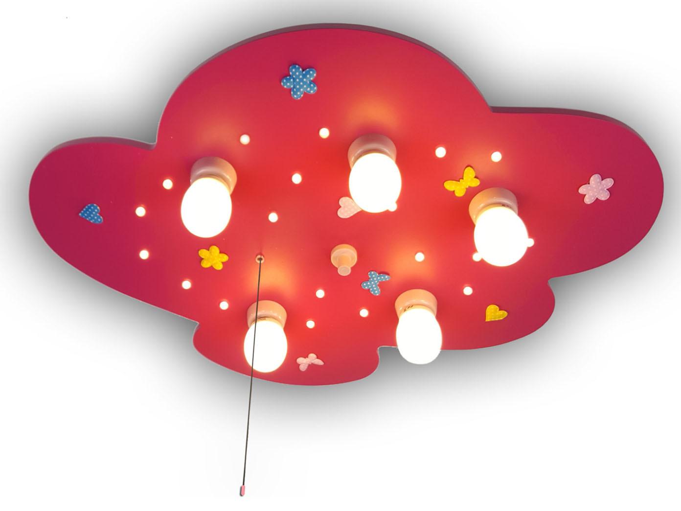Led Madchen Deckenlampe Fur Kinderzimmer Stoffblumen Neu Amazon Echo Kompatibel