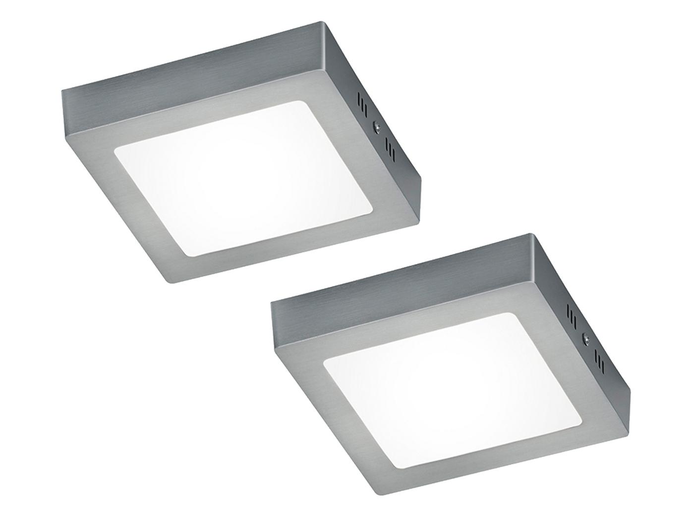 LED Deckenleuchte Deckenlampe ZEUS Nickel matt Acryl weiß 12 x 12 cm