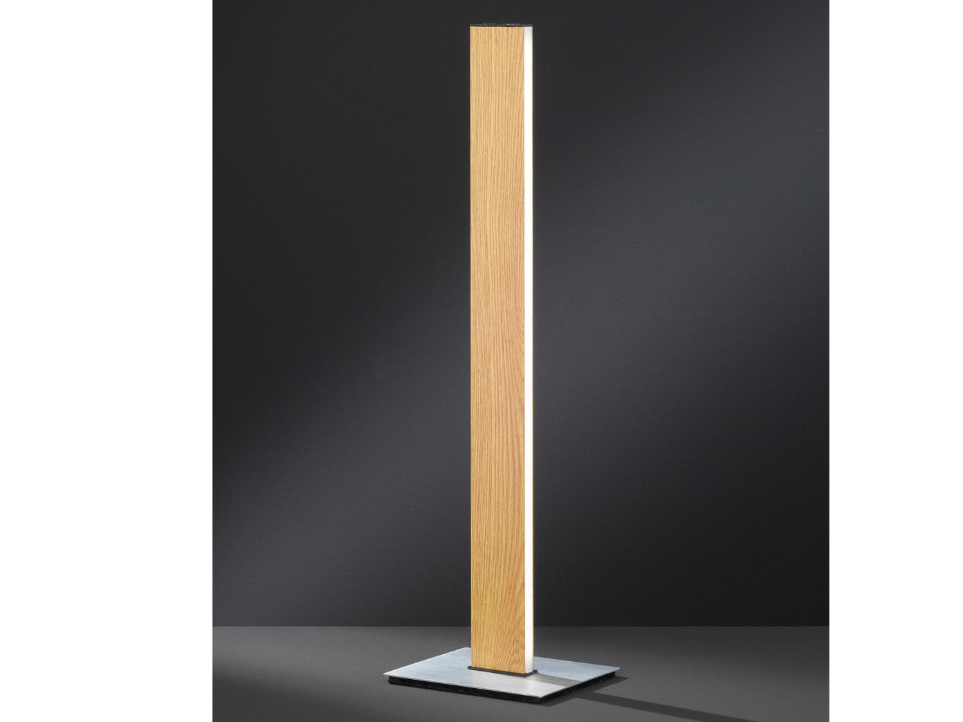 LED Nachttischlampe 2er Set Holz-Optik dimmbar mit Gestensteuerung Wohnzimmer