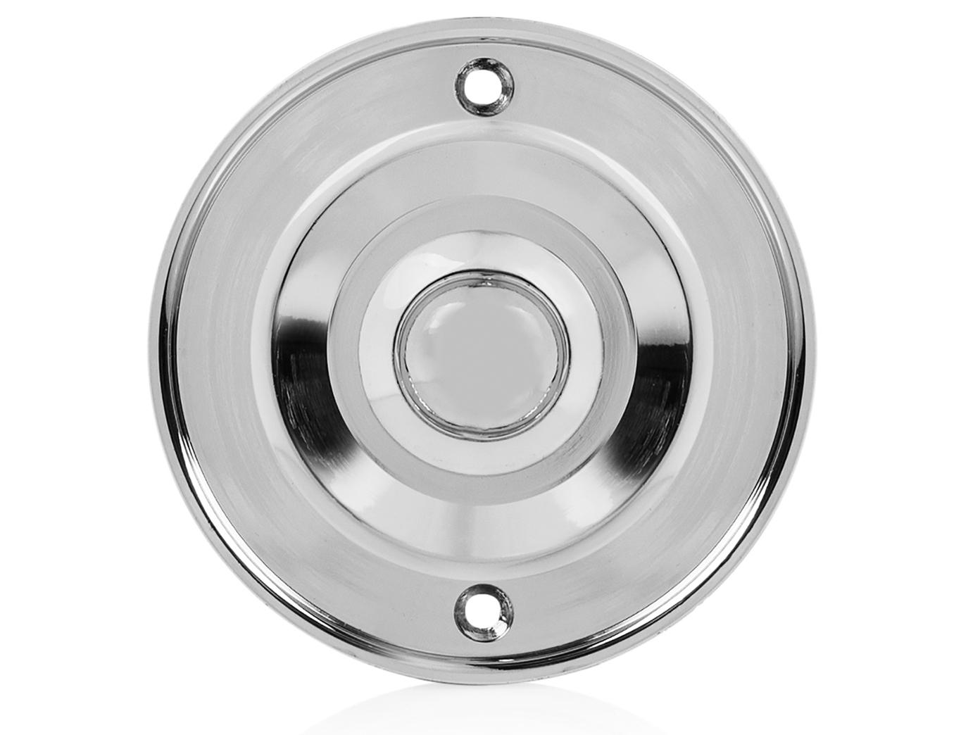 Klingeltaster rund Klingelplatte Runder Klingelknopf Messing klassisches Design