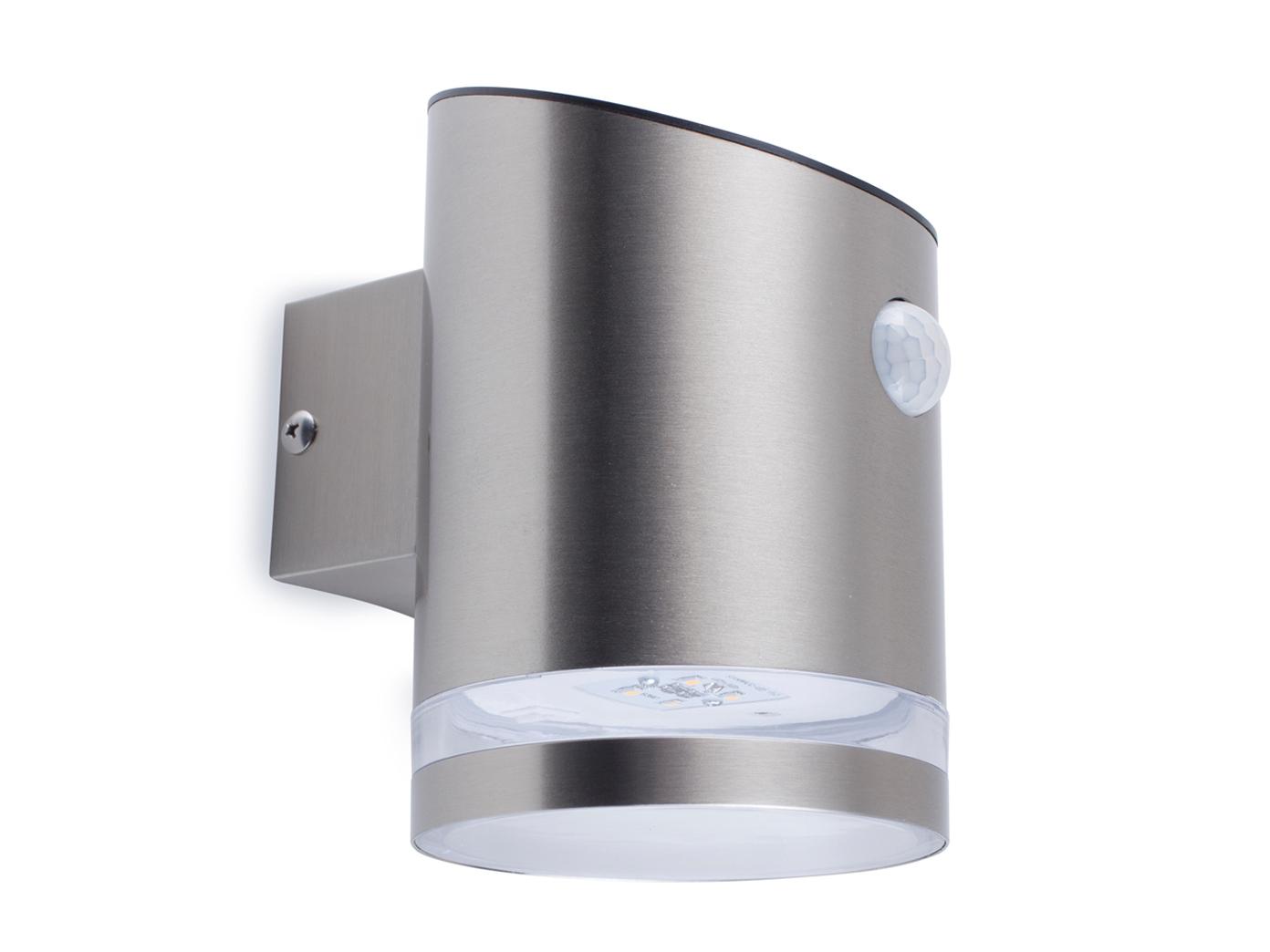 Super LED Solar Außenleuchte mit Bewegungsmelder Edelstahl Wandlampe XJ07