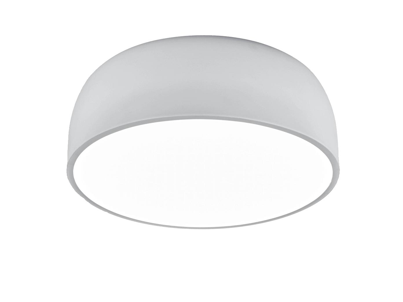 Zeitlose BARON Pendelleuchte für Innen aus matt weißem Metall Durchmesser 52 cm