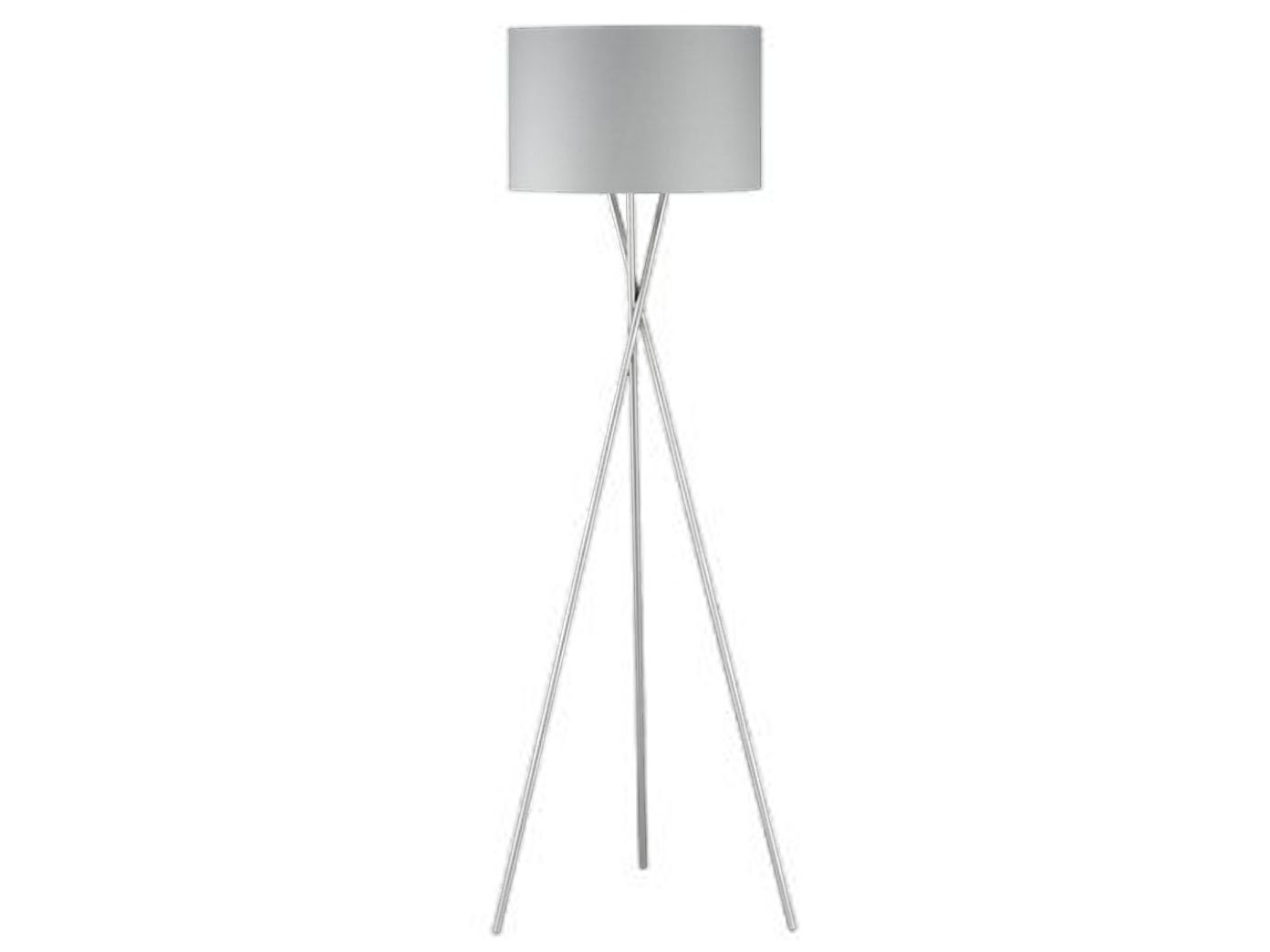 Moderne Design Stehlampe Mit Lampenschirm 54cm Stoff Grau