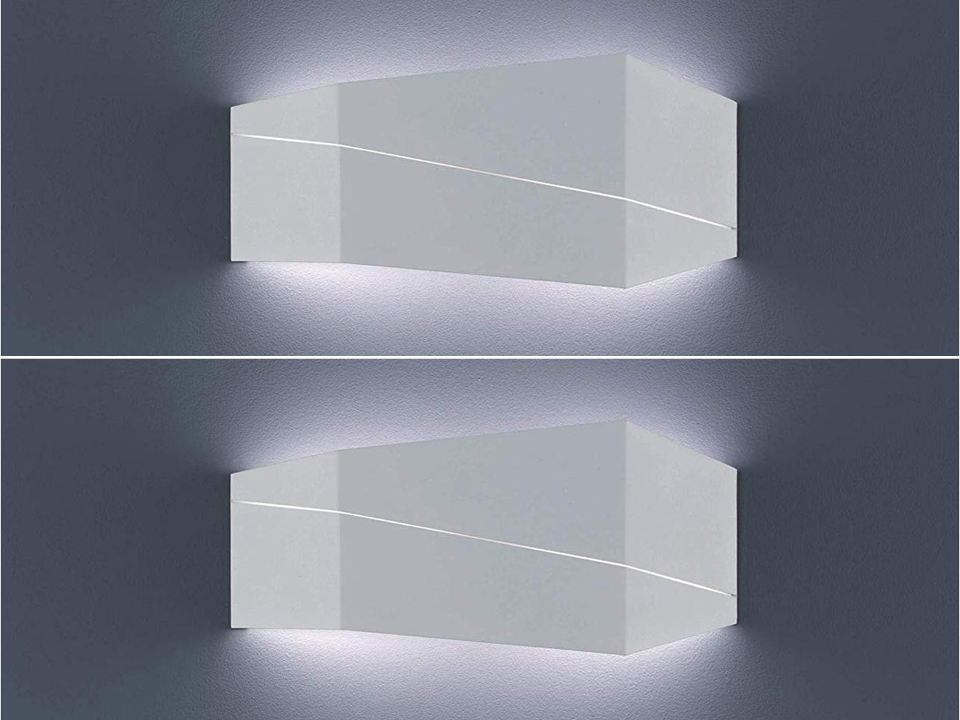 2er SET Wandbeleuchtung In Weiß Matt Für Wohnzimmer, Modernes Flurlicht  40x18cm 1 ...