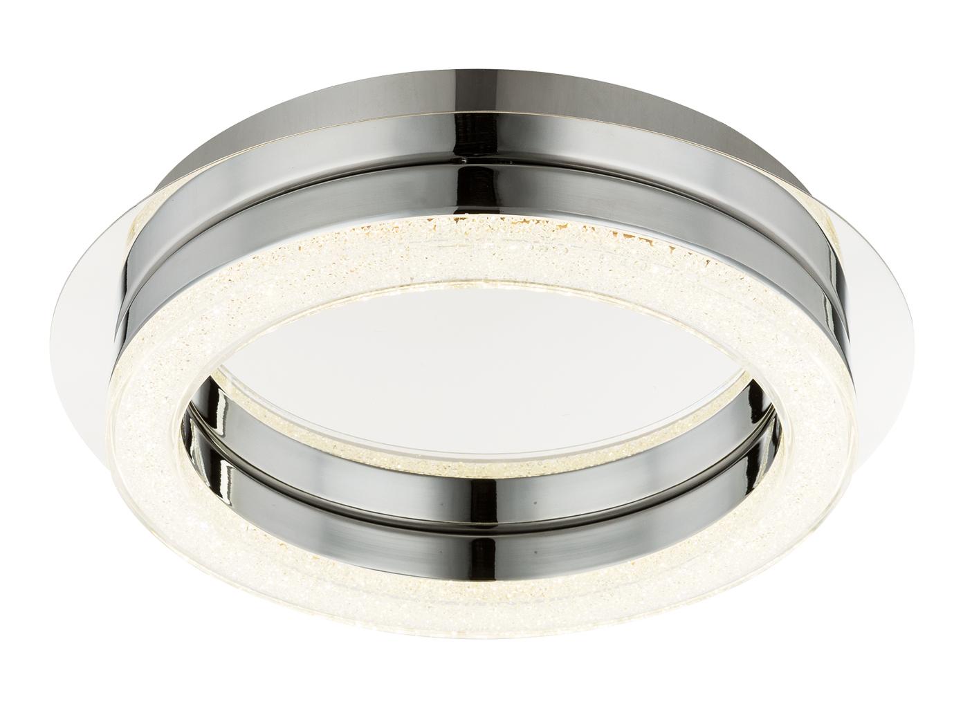 globo led deckenleuchte spikur deckenlampe rund chrom. Black Bedroom Furniture Sets. Home Design Ideas