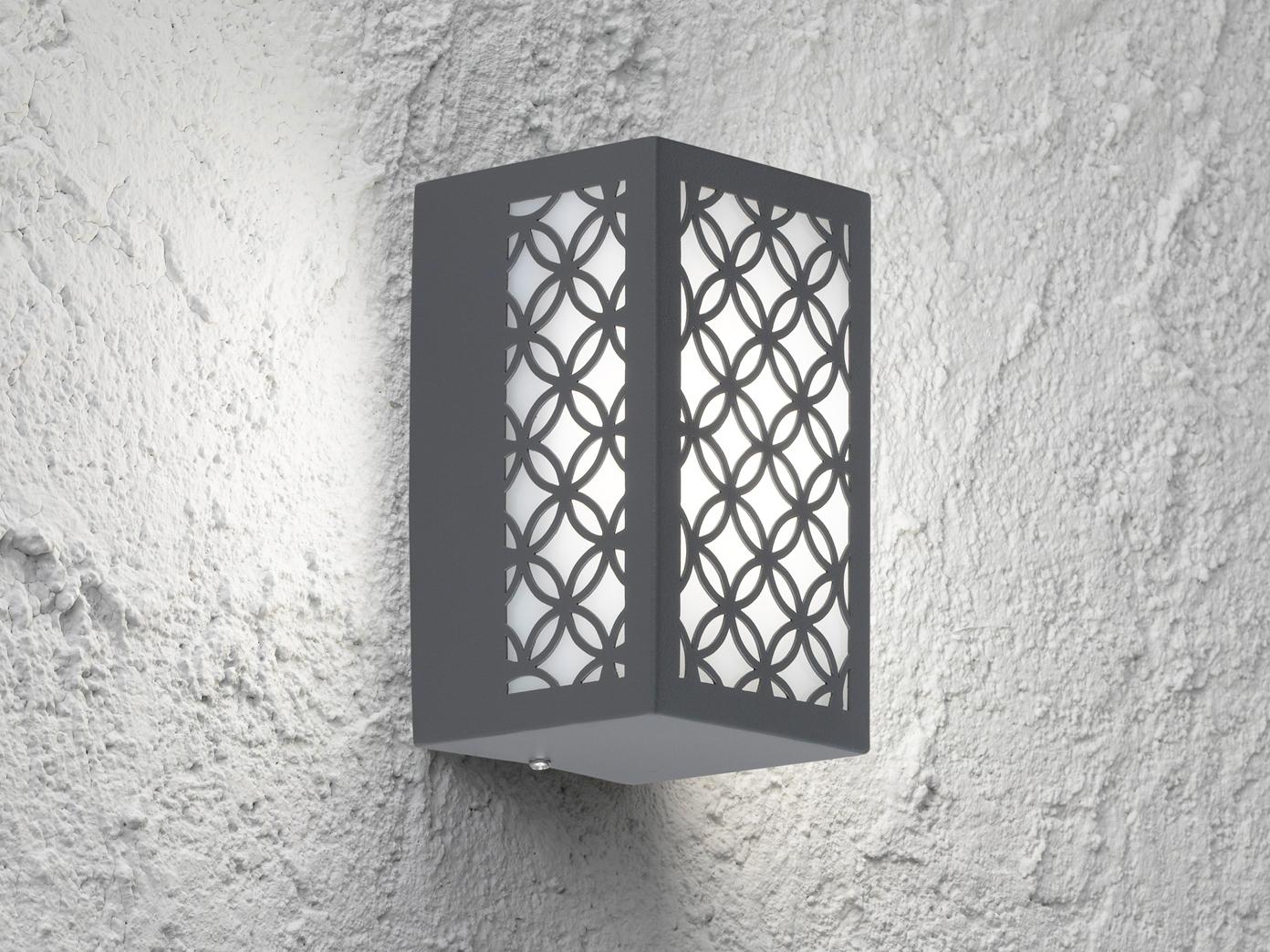 2 LED Außenwandleuchten Edelstahl eckig eckig eckig 7W Wandleuchte außen Fassadenbeleuchtung 710e6b