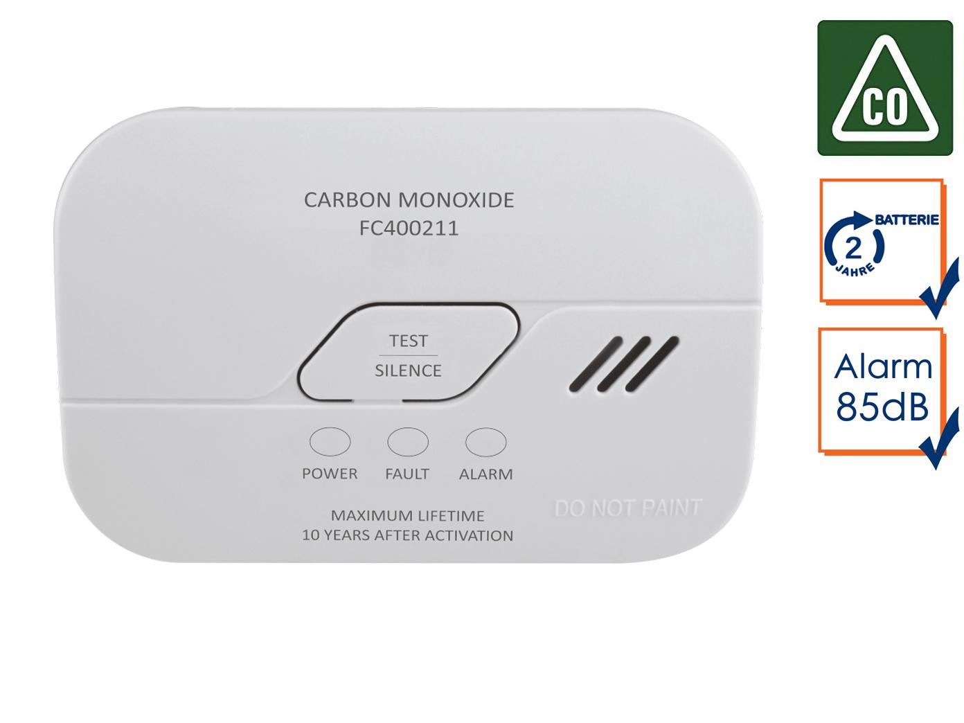 CO Melder Kohlenmonoxidmelder mit 3 Jahres Batterie 10 Jahres Sensor Gasmelder