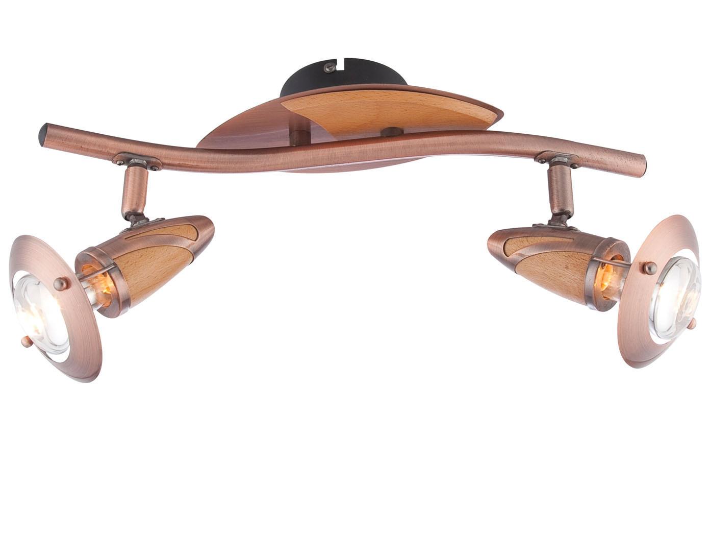 globo design deckenleuchte mit led 2 flammig lord kupfer. Black Bedroom Furniture Sets. Home Design Ideas