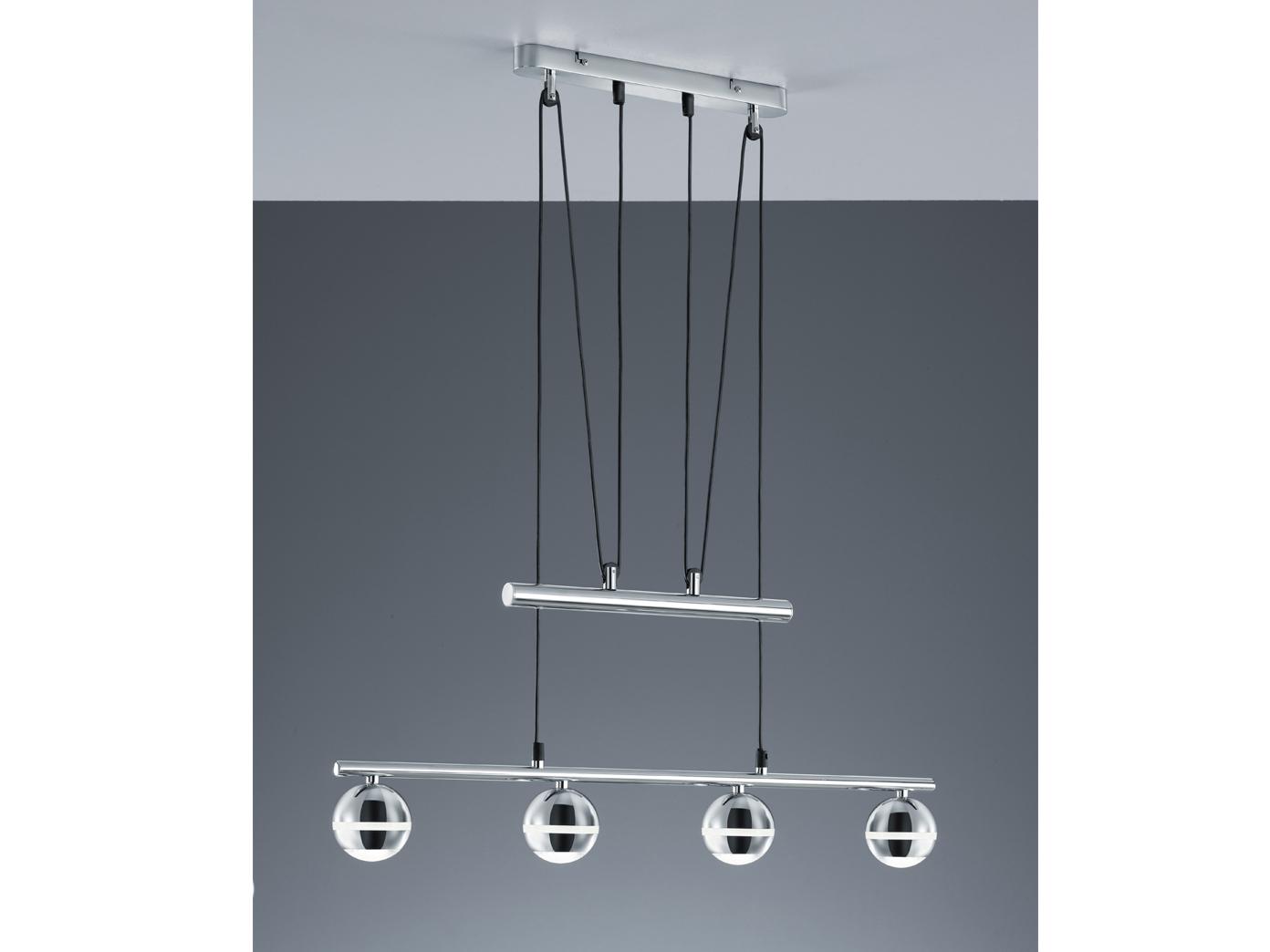 Länge 83cm 4 x 4,2W LEDs Trio SMD-LED-Balken chromfarben inkl