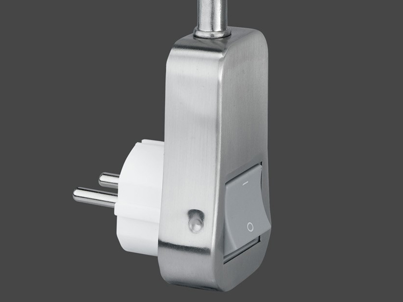 Schalter+Flexarm Kunststoffschirm weiss TRIO Stecker-Spot 1 x E14