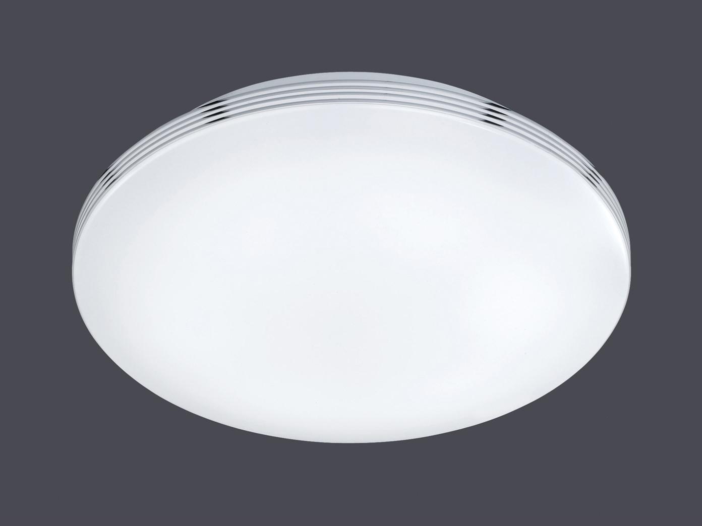 Led Deckenleuchte Badezimmerlampe Apart Chrom Acryl Weiss O 41 Cm