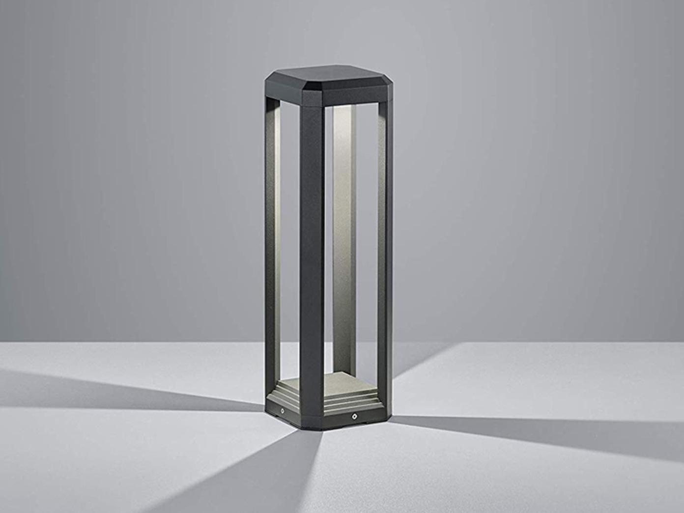 50cm Hohe Led Gartenbeleuchtung Aus Alu In Anthrazit Moderne Gehwegleuchte Ip65