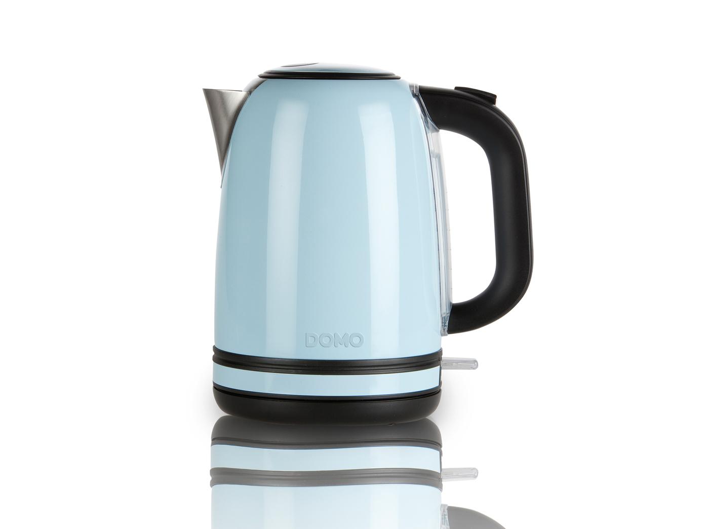 Fr hst cksset im retro design pastell blau kaffeemaschine for Wasserkocher retro design