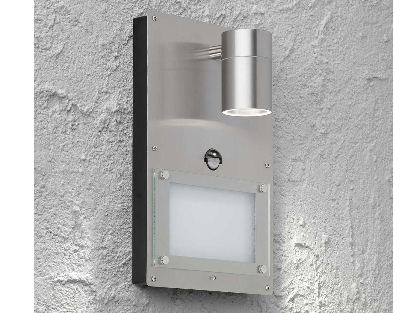 Hervorragend Edelstahl LED Hausnummernleuchte mit Bewegungsmelder, Wandleuchte BU67