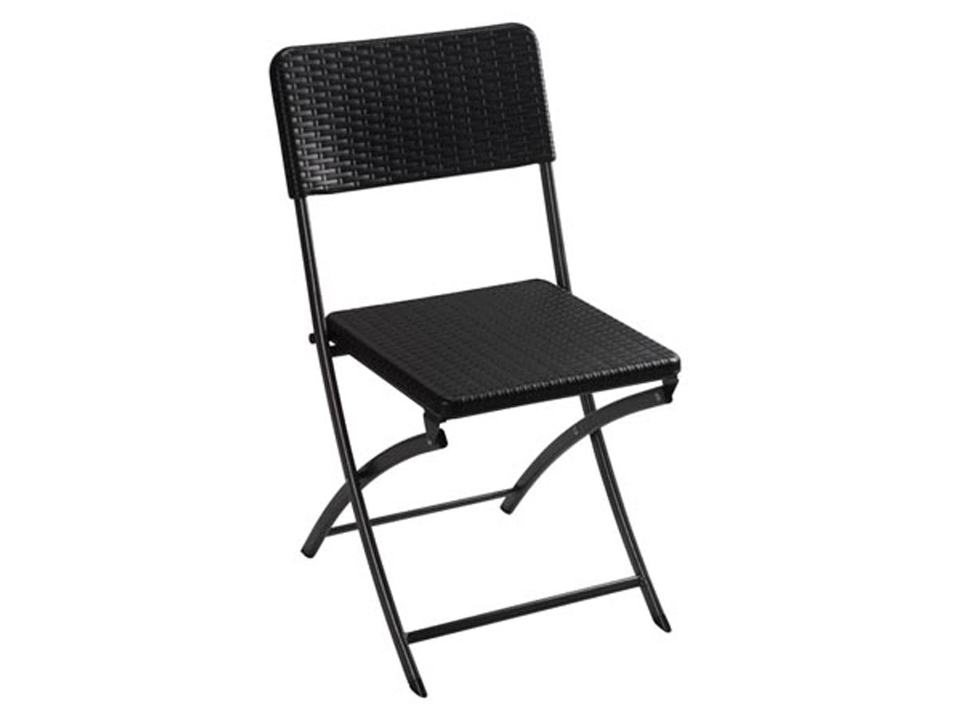 Wetterfeste Sitzgarnitur Kunststoff & Stahl Klapp Klapp Klapp Tisch rund & Stühle Garten b54e32