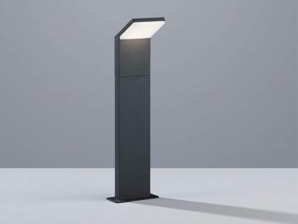 Moderne LED Pfostenleuchte in anthrazit aus stabilem ALU Höhe 50cm IP54