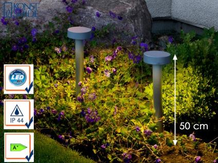 2 Stk LED Wegeleuchte Sockelleuchte PESARO 50cm, Beleuchtung Garten Eingang