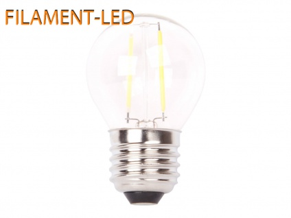 FILAMENT-LED Globe E27, 2 Watt, 200 Lumen, 2700 Kelvin, warmweiß