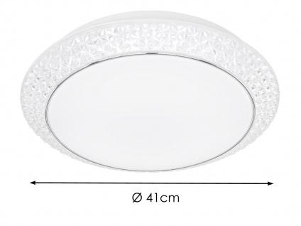 Deckenleuchte Weiß mit Acrylsteinen rund Ø 51cm LED Lichtfarbe wählbar Bürolampe - Vorschau 5