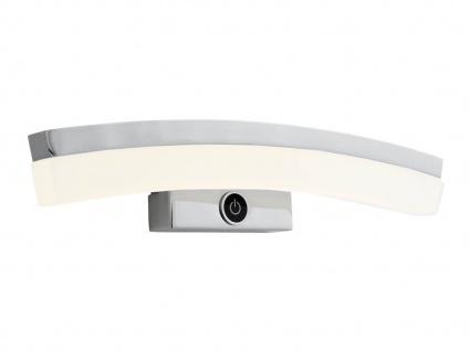 LED-Wandleuchte in Chrom, gebogen, Touchdimmer, Wofi-Leuchten