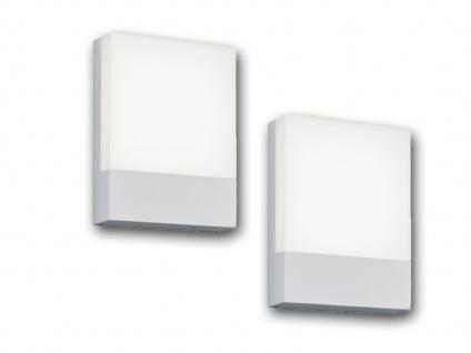 LED Wandlampen für draußen - 2er SET Hausnummernleuchten aus Aluminium weiß IP54