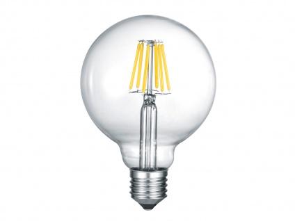 Nicht dimmbares LED Leuchtmittel mit E27 Fassung mit 6W & 600Lm warmweiß, Glas