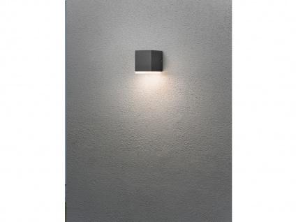 2er Set LED Außenwandleuchte Alu Anthrazit, 6W IP54 Fassadenbeleuchtung Garten - Vorschau 5