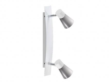 2flammiger Wandstrahler mit Schalter und LED, Wandleuchte Lampenschirme Metall