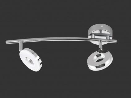 LED Deckenstrahler schwenkbar für Innen Chrom mit Lichtspot Wandlampe rund Büro - Vorschau 3