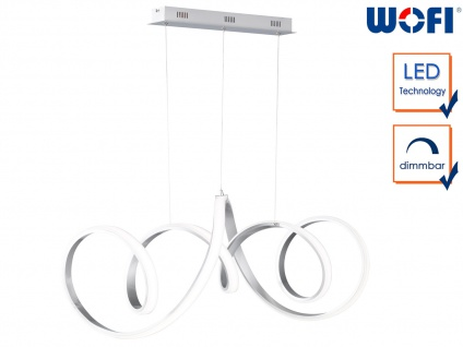 Design LED Pendelleuchte Aluminium L. 102cm Hängeleuchte Esstischleuchte dimmbar