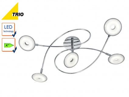 LED Deckenleuchte Deckenlampe PILATUS Chrom Acryl weiß Breite 74 cm