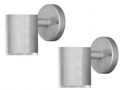 2Stk Konstsmide LED Außenwandleuchte ULL dimmbar Downlight bruchsicher Hauswand