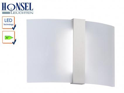 LED Wandleuchte Wandlampe Leuchte Nickel matt Acryl weiß matt CLIP - Vorschau 1