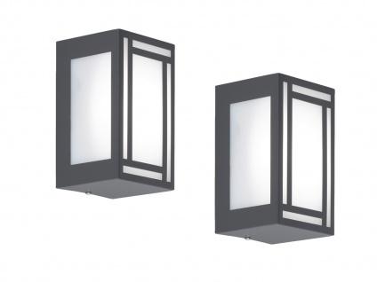2x LED Außenwandleuchte Edelstahl Kunststoff Wandlampe außen Fassadenbeleuchtung - Vorschau 2