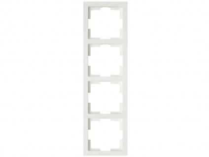 4-fach Rahmen / Schalterblende Modul in Cremeweiß, eckig, senkrecht, GAO