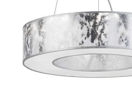 LED Pendelleuchte Ø 51 cm silbern 21W Deckenbeleuchtung Pendel Wohnzimmer - Vorschau 2